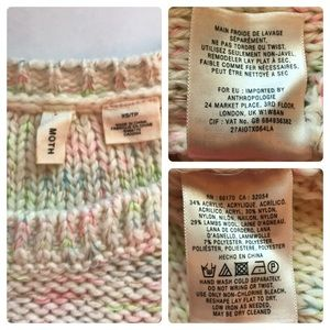 Anthropologie Sweaters - Anthro | Moth Multi-Color Pastel Wool Sweater